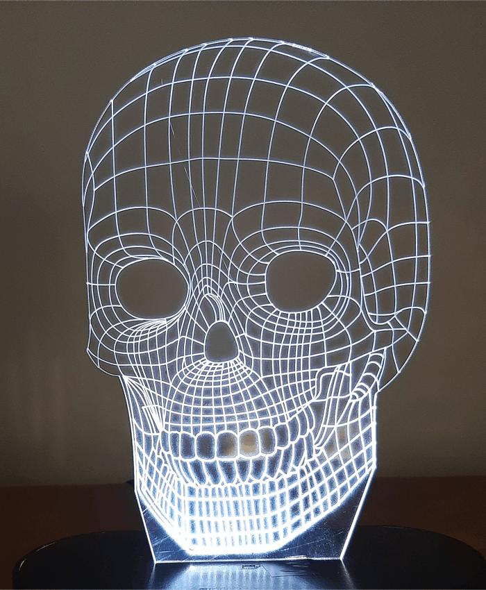 بالبینگ چراغ خواب سه بعدی اسکلت