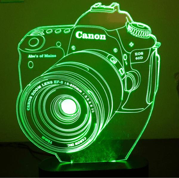 بالبینگ چراغ خواب سه بعدی دوربین عکاسی